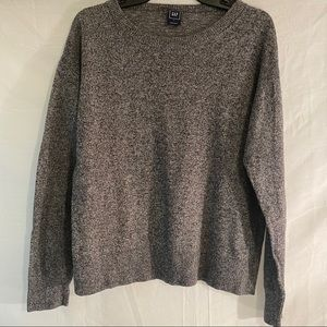 Gap Grey Colored Scoop-neck Sweater Size L